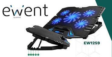 Ewent permite mantener el portátil refrigerado durante el verano con sus soportes con ventilación