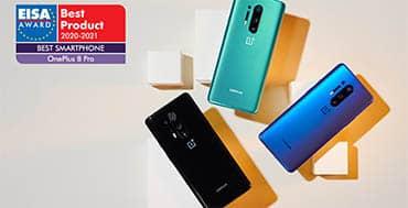 OnePlus 8 Pro, galardonado como el Mejor smartphone del año en los Premios EISA 2020-2021