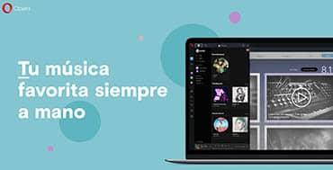Opera incluye acceso instantáneo a Spotify, Apple Music y YouTube Music en la barra lateral de su navegador