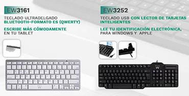 Ewent cuenta con una amplia gama de teclados para adaptarse a las necesidades de cada usuario