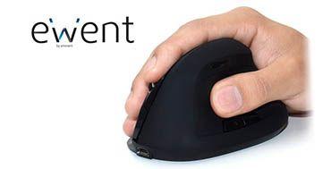Ewent mejora la salud de los usuarios con sus ratones verticales ergonómicos