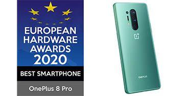 OnePlus 8 Pro gana el premio como Mejor Smartphone de 2020 en los European Hardware Awards