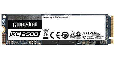 El nuevo SSD NVMe PCIe de Kingston KC2500 tiene capacidad de 2TB