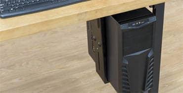 Con los soportes para CPU de Ewent es posible mantener los espacios de trabajo ordenados