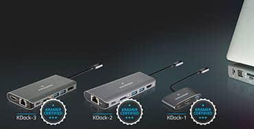 Ya están disponibles las nuevas estaciones de acoplamiento multipuerto USB-C de la familia KDock de Kramer