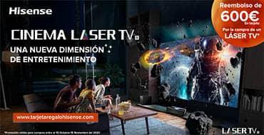 La nueva Láser TV de Hisense llega con un regalo: una tarjeta MasterCard de 600 Euros