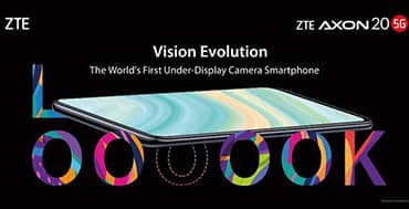 ZTE presenta el AXON 20 5G, primer smartphone con cámara selfie bajo la pantalla