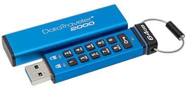 Kingston pone a disposición de los usuarios su nuevo USB cifrado DataTraveler 2000 con capacidad de 128GB
