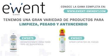 Ewent tiene una amplia gama de productos de limpieza, pegado y antiincendios
