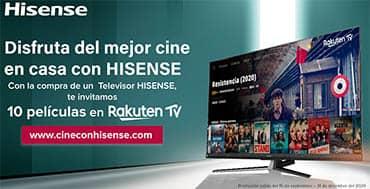Rakuten TV ahora disponible en los nuevos televisores de Hisense