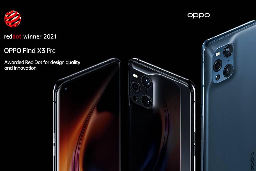 El smartphone OPPO Find X3 Pro se alza con el premio Red Dot Award en la categoría Product Design