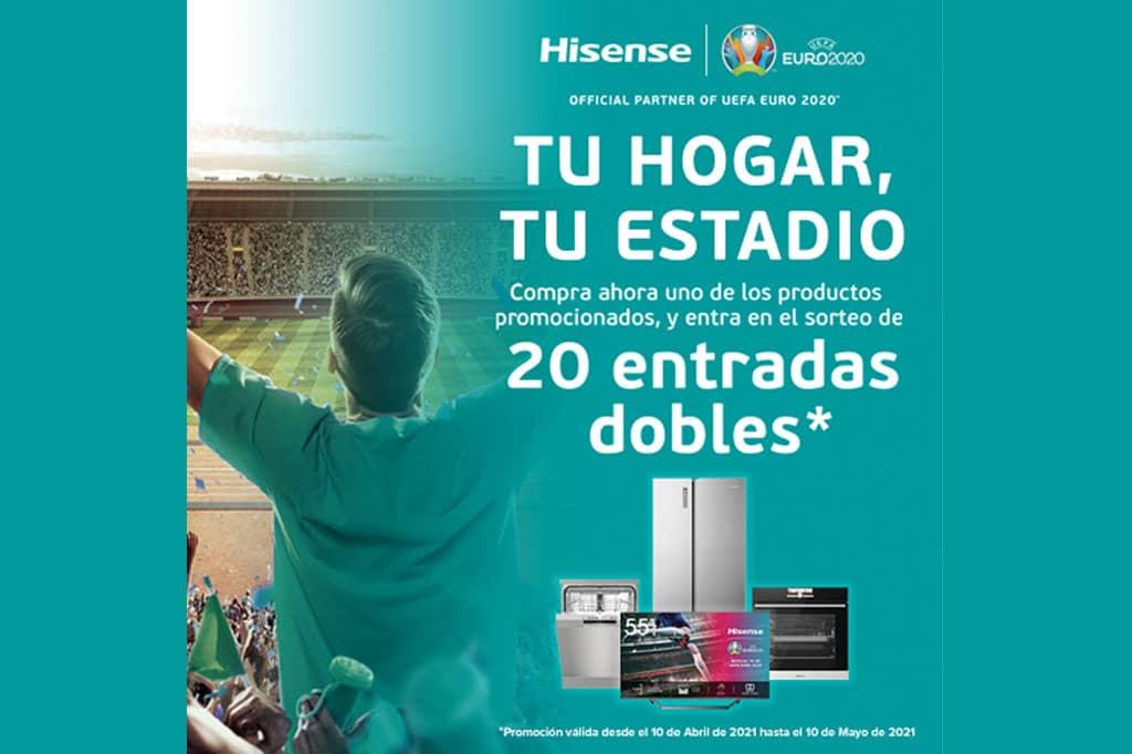 Con Hisense, los amantes del fútbol disfrutarán en vivo de la emoción de la EURO2020