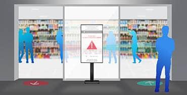 Sharp - NEC, Intuiface y Nexmosphere firman una alianza para ofrecer la solución Entrance Flow Management al sector retail