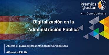 Ya empieza la XIII Convocatoria de Premios Digitalización en las Administraciones Públicas