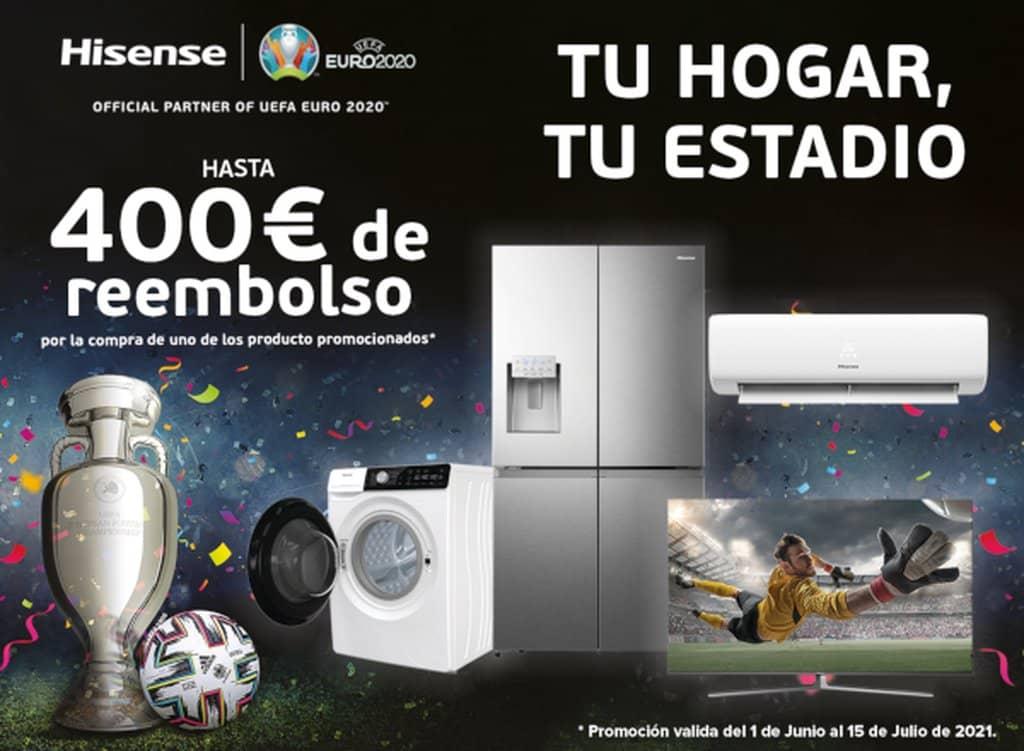 Hisense crea una campaña de reembolso de hasta 400 euros