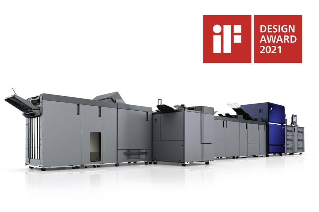 Serte AccurioPress C14000 de Konica Minolta ha sido galardonada con el premio iF DESIGN AWARD 2021