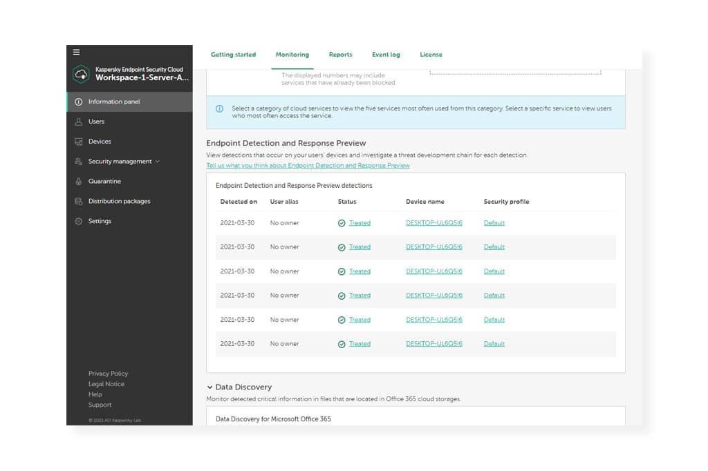 Las PYMES con EDR están más seguras con Kaspersky Endpoint Security Cloud