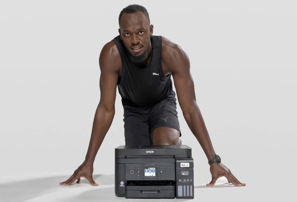 Epson y Usain Bolt acuerdan una colaboración que promueve la impresión sin cartuchos