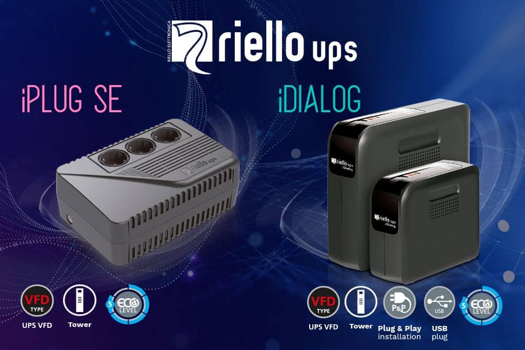 Las series SAI iPlug SE e iDialog de Riello UPS, tranquilidad asegurada contra problemas eléctricos
