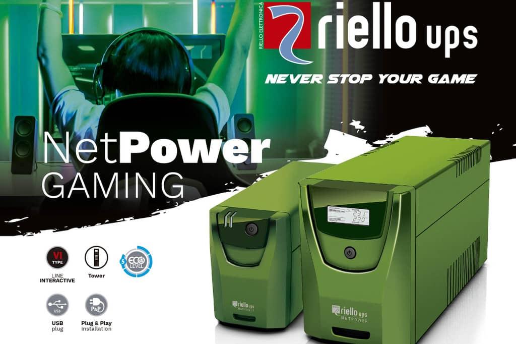 Riello UPS diseña su SAI Net Power Gaming para jugadores