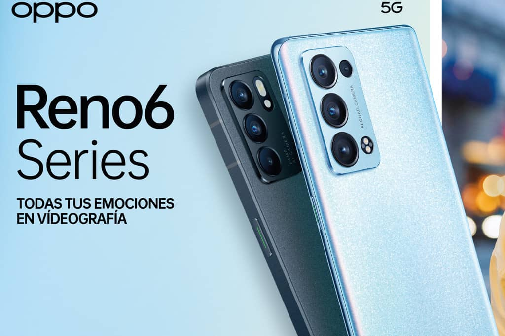 Nueva serie Reno6 de OPPO con lo último en IA y videografía